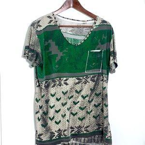 Diesel Patterned T-Shirt XL